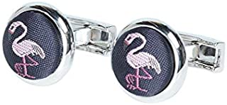 Tarocash Men's Flamingo Cufflink for Going Out Smart Occasionwear