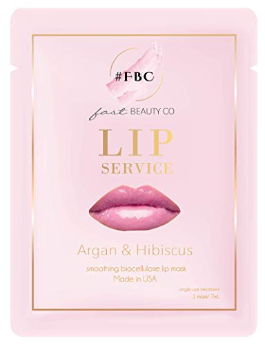 Fast Beauty Co. Lip Service! 1 Smoothing Biocellulose Lip Mask With Argan & Hibiscus