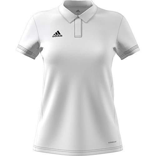 adidas Damen Team19 Polo W Poloshirt, White, S