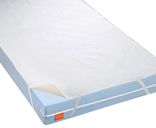 Sleepling 191166-P waterdichte molton matrasbeschermer incontinentie-topper met ademende coating, wit