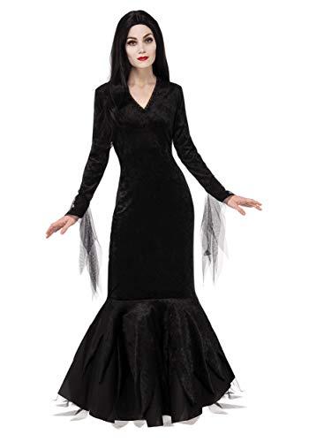 Rubie's Addams Family Morticia - Disfraz para mujer, color negro