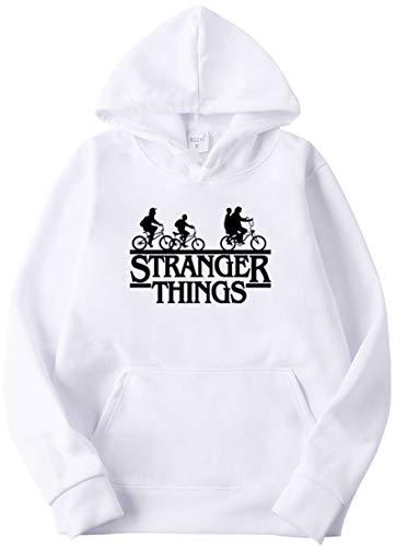 OLIPHEE Sudaderas con Capucha Impresión Logo de Stranger Things para Hombre