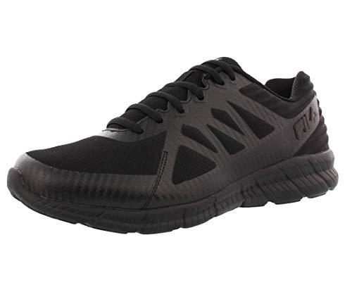 Fila Men's, Memory Finity 3 Running Sneakers Black 10.5 M