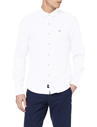 Dockers Stretch Oxford Shirt Camisa, Papel Blanco, M para Hombre
