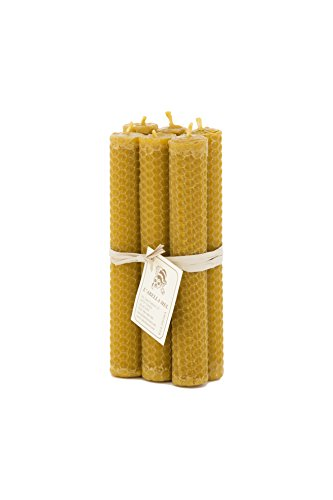 L'abella Mel – Velas naturales de cera de abeja – Pack de 6 velas naturales hechas a mano