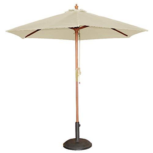 Bolero Round Parasol Sonnenschirm, 2,37x 2,5m Durchmesser, cremefarben, für den Außenbereich