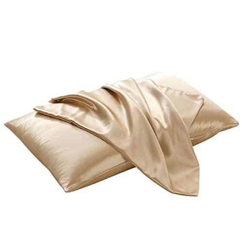 Haya - Funda de almohada de microfibra, fácil de lavar y supersuave, color camello, 20 x 29 pulgadas (1 unidad)