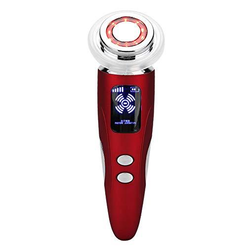 Machine multifonctionnelle de rajeunissement de peau de lumière de couleur de LED, instrument de beauté d'importation de sérum d'ion Dispositif de soin d'oeil de levage de massage chaud(rouge)
