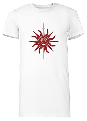 Casa Martell Mujer Camiseta Larga tee Blanco Women's White T-Shirt Long