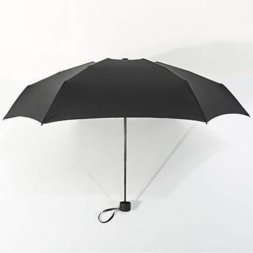 Taschenschirm kleiner Regenschirm 180 g Regen Sonne Sonnenschirm praktisch Mädchen Reise Parapluie Kid China schwarz