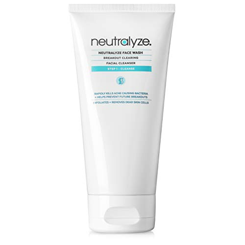 Neutralyze Acne Face Wash - Maximum Strength Face Wash For Acne Prone Skin with 2% Salicylic Acid + 1% Mandelic Acid + Nitrogen Boost Skincare Technology (5.0 oz)