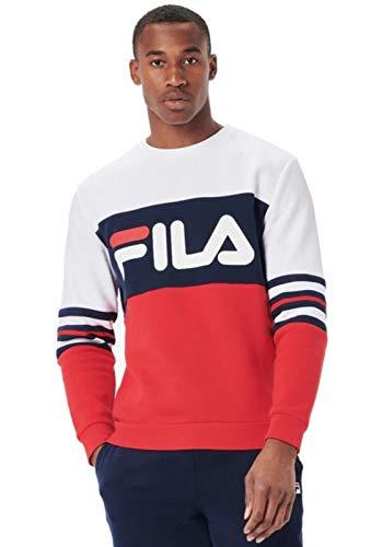 Fila Męska bluza w paski Freddo blok kolorów dziedzictwo