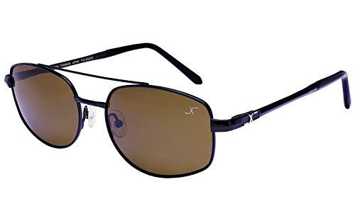 Xezo UV 400 Titanium polarisiert, Herren, Angel-Sonnenbrillen, Skyhawk 500 B, schwarz / chrom, 0.7 oz