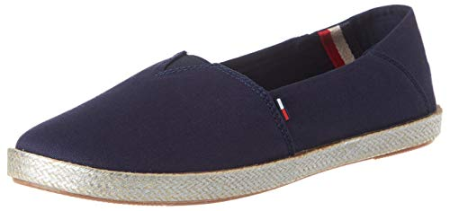 Tommy Jeans Damen METALLIC Flexible Espadrille Pumps, Blau (Twilight Navy C87), 40 EU