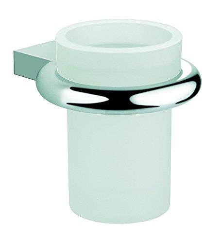 Baño Diseño Portavasos Pared Cristal, Latón, Cromo Brillante