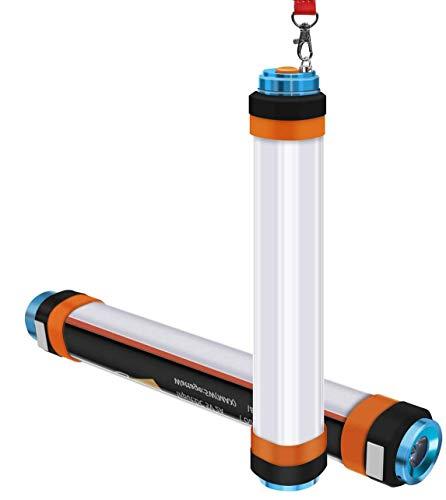 ALFLASH Linterna de camping recargable por USB, luz LED regulable IP68, resistente al agua, multifunción, portátil, para camping, banco de energía magnético, repelente de mosquitos