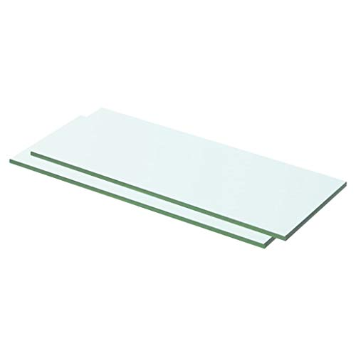 vidaXL 2X Regalboden Glas Glasboden Glasscheibe Glasplatte Regalbrett Ersatz Platte Glasscheibe für Glasregal Klarglas Transparent 50x15cm