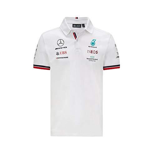 Mercedes-AMG Petronas - Offizielle Formel 1 Merchandise 2021 Kollektion - Herren - Polo - Kurze Ärmel - Weiß - L