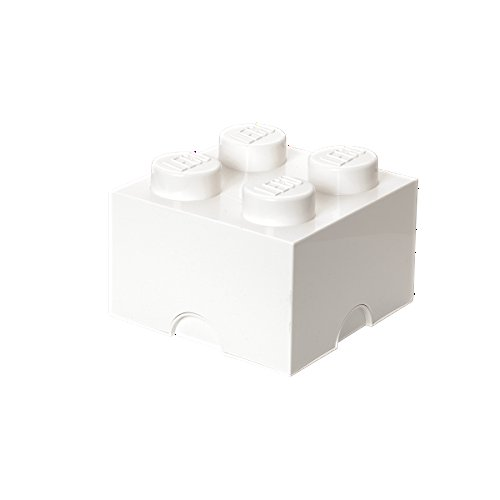 Room Copenhagen Lego Storage Brick with 4 Knobs, in White
