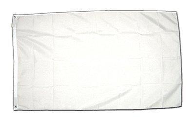 MM vlaggen/vlag om te beschilderen, weerbestendig, wit, 250 x 150 x 1 cm, 16282