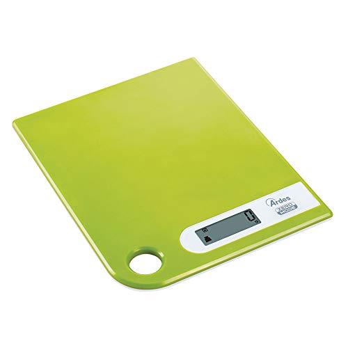 Ardes AR1PA1/V RAL Bilancia da Cucina Digitale, Modern Style con Foro Passante per Appenderla, Peso Max 5 kg, Verde, Acciaio