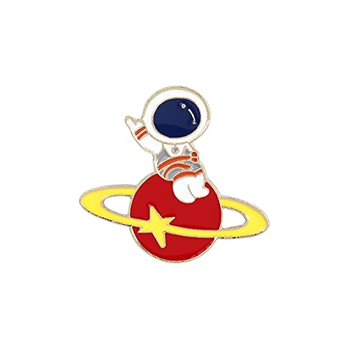 Astronauta Bebé Esmalte Pin Personalizado Viaje En El Espacio Broches Bolsa De Lapel Pin Insignias Planeta Luna Estrella Meteor Joyería Regalo Para Niños