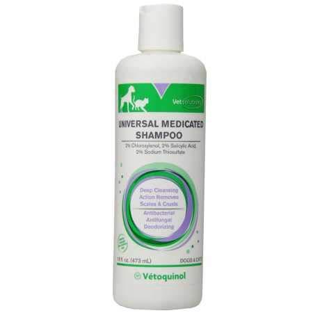 Vetoquinol Universal Medicated Shampoo for Dogs,...