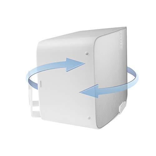 Vebos Support Mural Sonos Five tournant Blanc - Haute Qualité en Une expérience optimale dans Chaque pièce