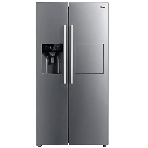 Midea KS-EIX 6.23 Side-by-Side Kühl-/Gefrierkombination/176,5 cm hoch/No Frost/Inverter Compressor/mit Barfach/Wasser-/Eisspender mit Festwasseranschluss/Twin Control