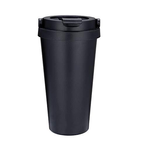 NEEKY Trinkflasche Sportflasche Fahrrad Outdoor Fitness Wasserflaschen - Mode Edelstahl Kaffeetasse Doppelwandig Isolierte Vakuumisolierung 450ml