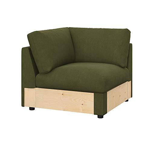 Soferia Funda de Repuesto para IKEA VIMLE módulo de Esquina, Tela Majestic Velvet Khaki, Verde