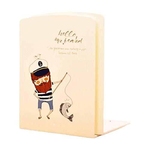 muuunann Sujetalibros sujetalibros Estantería de dibujos animados de moda de estilo Estantería de metal del sujetalibros soporte lindo Titular de escritorio for los libros papel de regalo 2 PCS sujeta