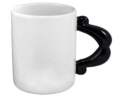 StealStreet ss-kd-9008Schnurrbart Tasse Geschirr Kaffee Tasse, 11,4cm schwarz/weiß