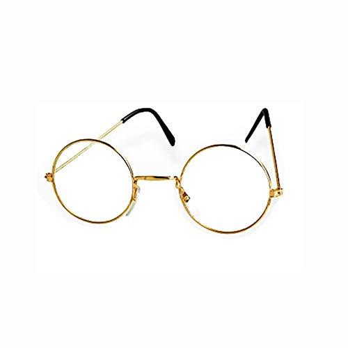 KBO13418 Brille Oma / Opa Gold ohne Gläser