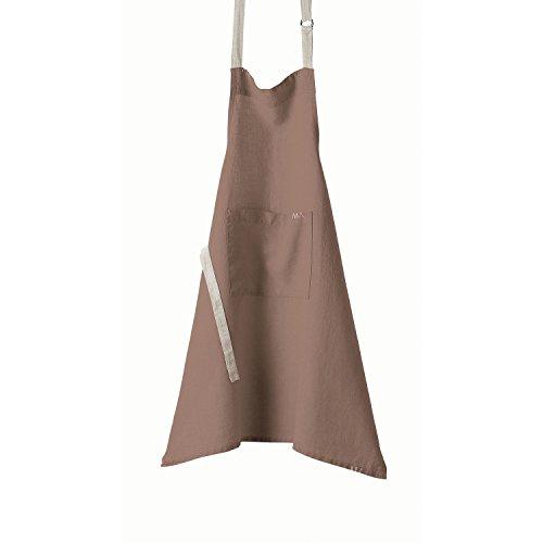 Winkler - Tablier de cuisine à poche > – 80x85 cm – Protection 100% lin - Blouse adulte lavable – Sangle ajustable