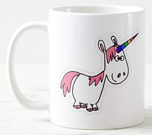 Taza de unicornio Dizzy, taza de mango grande de 325 ml.