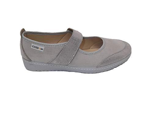 Zapato/Mujer/Cosdam/Plantilla Extraíble/Apto Plantilla ortopédica/Empeine Téxtil/Suela Poliuretano/Color Gris Perla/Talla 39