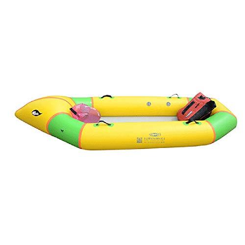 Canness Aufblasbares Kajak Set 2 Person 400 kg Ladekapazität Gelb aufblasbares Boot mit Rudern und Handfischerboot 230x110x30cm Kanu Fischerboot (Color : Yellow, Size : 230x110x30cm)