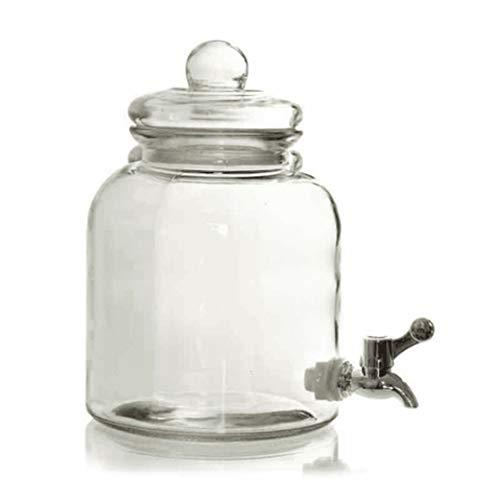 utilissimi Tarro dispensador de cristal para bebidas, vino, agua aperitivo con grifo 3,2 l