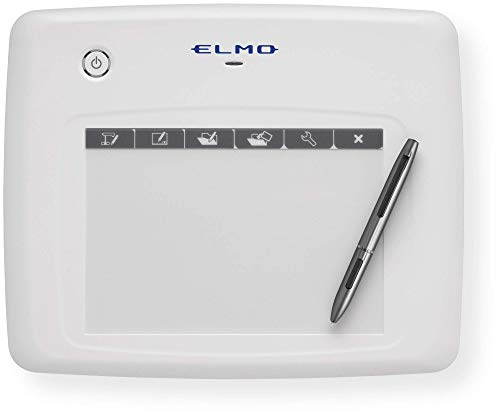 Elmo 1307 Model CRA-1 Wireless Pen Tablet, Wireless Interactive Capability, Compatible with Elmo Document Cameras, 16 Hours of Continuous Operation Time, Range up to 49.2 Feet, Auto Power Off