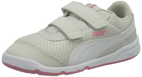 Puma Unisex Baby STEPFLEEX 2 MESH VE V INF Sneaker, Nimbus Cloud White-Sachet Pink, 26 EU