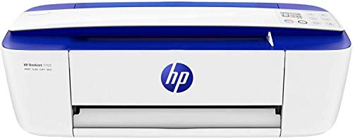 HP DeskJet 3760 - Impresora multifunción tinta, color, Wi-Fi, copia, escanea, compatible con Instant Ink, color azul (T8X19B)