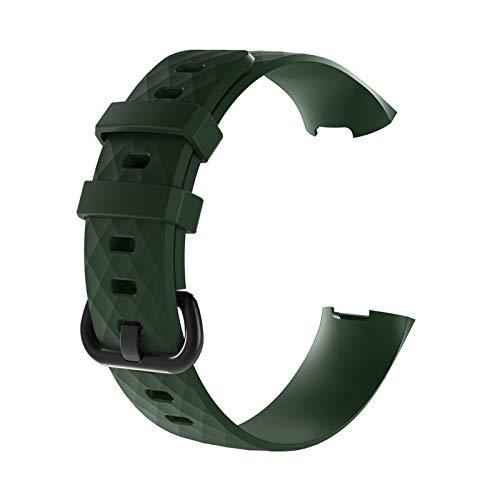XUEMEI Sport Band for Carga 3 CHARGE3 Banda Soft TPU Smart Watch Start STRUT Mujer BRAZA Pulsera Accesorios (Color : Small Size 06)