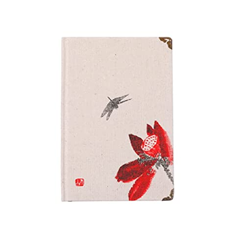 Guomipai Retro portátil Estilo Chino Diario Personalidad portátil multifunción Espesado Cuaderno Regalo de cumpleaños (100 Hojas) (Color : C)