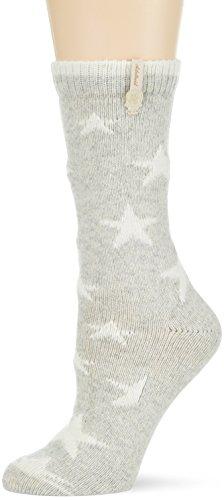 Adelheid Damen Socken Glückspilz Sterne, Grau (Mausgrau 940) 39/42 (Herstellergröße: M)