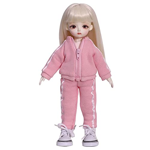 BJD Doll 10 Inch 1/6 SD Dolls for Age 3 4 5 6 7 Years Old Kids Dolls for Girls Baby Cute Doll Toy with Clothes and Shoes Birthday Gift for Girls - Chloe Toys