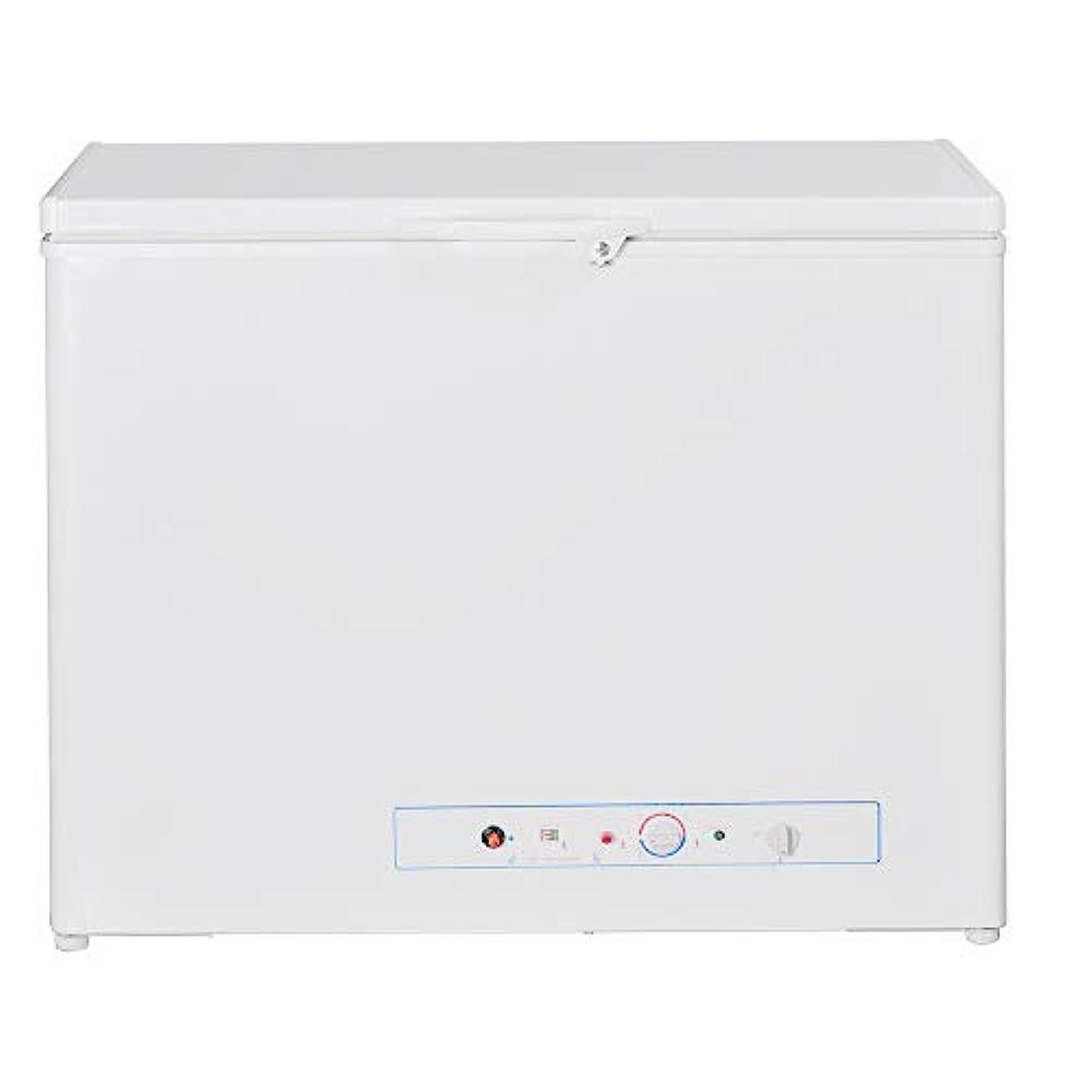 SMETA Chest Freezer 110v/Gas Propane Absorption Top Open freezer for Camper Home RV,5.7 Cu ft,White