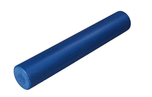Trendy Sport Pilates Rolle, Fitnessrolle, Yoga-Rolle mit 91 cm Länge, Ø 15 cm in hellblau, Optik marmoriert