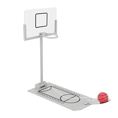 Cafopgrill Mini Máquina de Baloncesto, Decoración de Adornos de Escritorio de Oficina en Miniatura Juego de Mesa de Juguete de Aro de Baloncesto para Amantes del Baloncesto