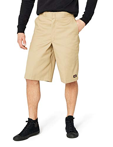 Dickies Men's 13 Inch Loose Fit Multi-Pocket Work Short, Khaki, 34